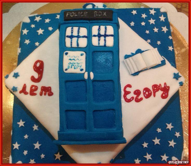 Доктор Кто торт для ребенка Тардис