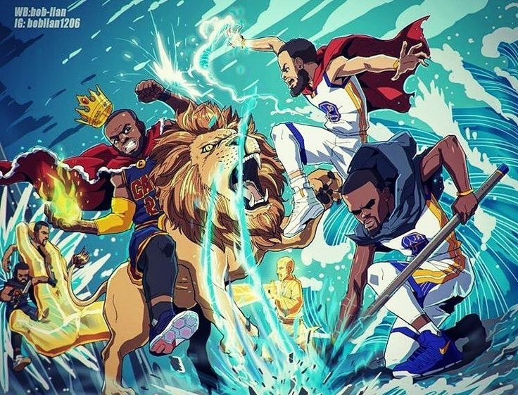 regram @consciousbasketball  Two games in the #Finals have not been the epic war battle we had all been waiting for. Can #KingJames and the #Cavs turn things around in Ohio and #DefendTheLand ?   .   art by @boblian1206   #dubzagainsttheworld #consciousbasketball #nbaart #dubnation #cavsnation #kd #lebron #steph #kyrie http://ift.tt/2scREvg