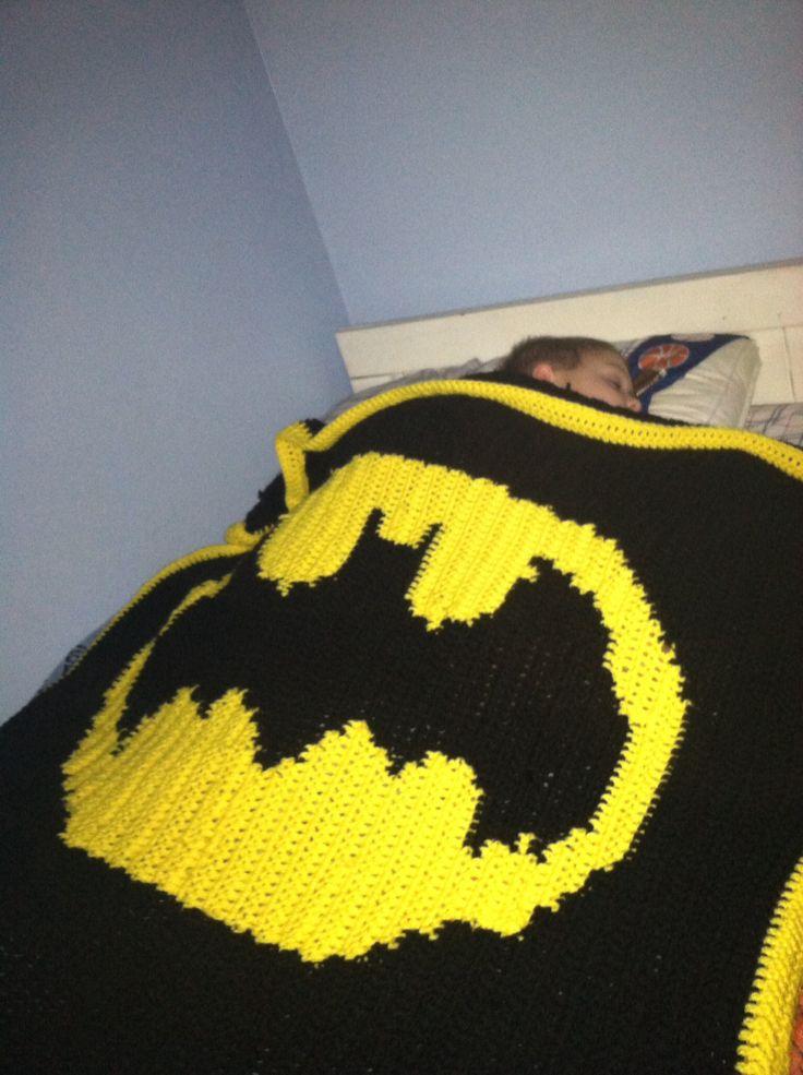 Único Crochet Patrón De Máscara Batman Festooning - Manta de Tejer ...
