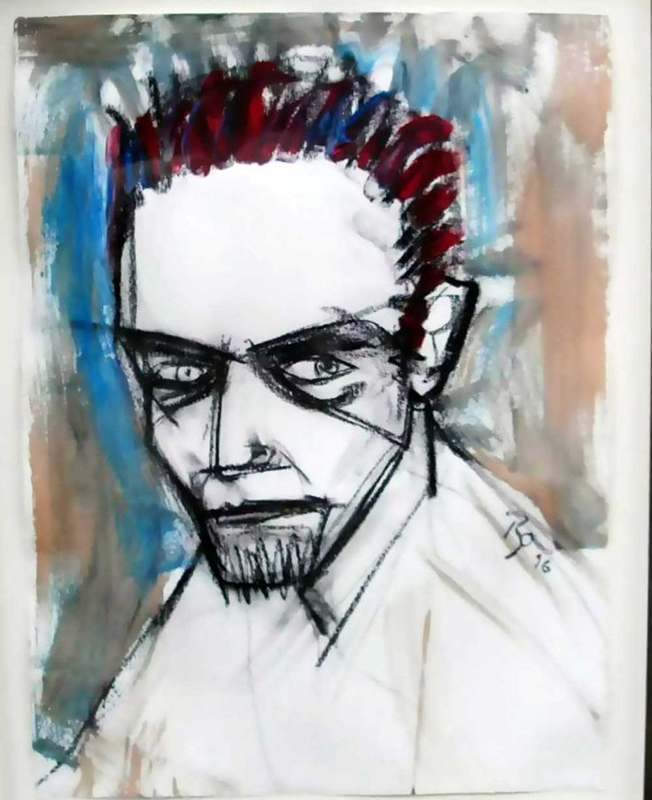 En plus d'être un chanteur légendaire, David Bowie était également un peintre…