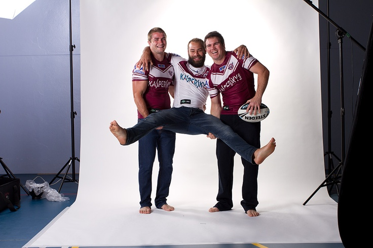 Manly Sea Eagles at the ISC photoshoot 2013