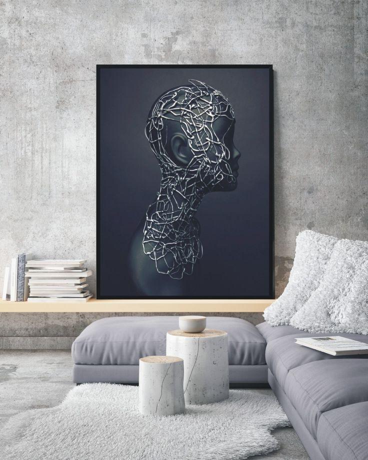 Plakat Mannequin head - różne rozmiary NORD&CO