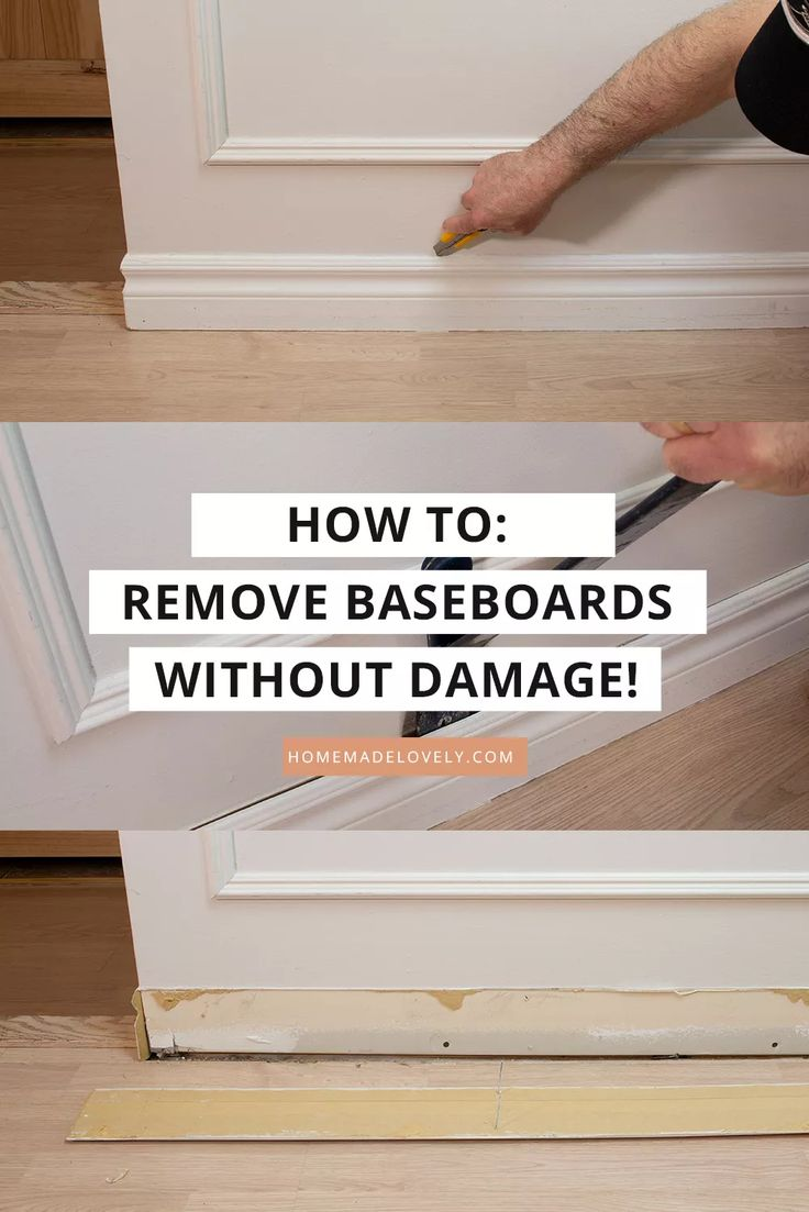 How to Remove Baseboards without Damage (for Reuse) in