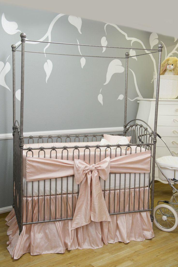 THE STORK COLLECTION: Silk Crib Bedding, Crib Bedding, Nursery, Nursery  Bedding,