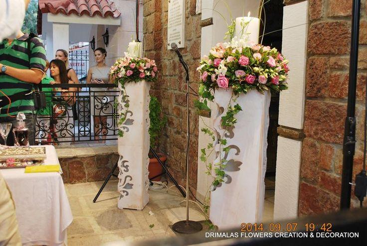 στολισμος γαμου στην Αγια παρασκευη παλατιανη
