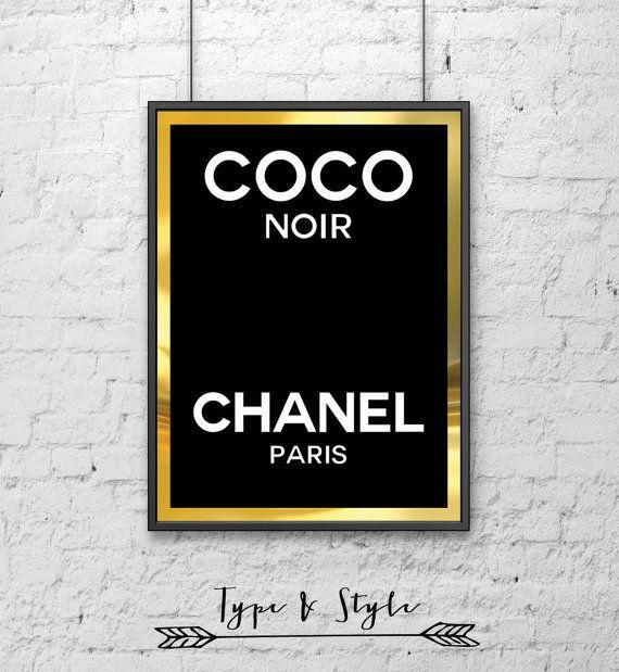 Coco Chanel Perfume Logo Framed Poster Framed Digital
