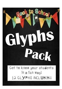 Glyphs are a fun way to get to know your students in a way they will enjoy as well. There are 12 glyphs included!!!The Teacher Instructions are for you to read to your students. You can use this as a listening exercise as well. It will definitely help you assess this student skill.