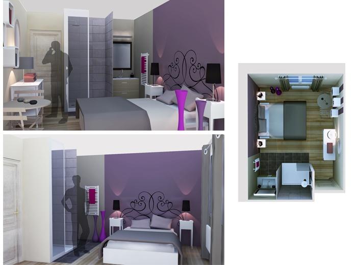 1000 images about projet de l 39 agence marion lano sur pinterest 2d placards et d corations - Amenagement d une chambre ...