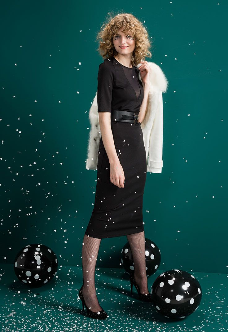 Op zoek naar een makkelijke oplossing voor je feestlook? All black is altijd een goed idee! #party #outfit #kerst #kleding #feest #jurk #little #black #dress