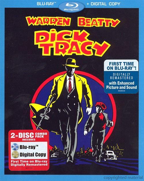 Dick Tracy Blu-Ray  Digital Copy Blu-Ray 1990  Dvd -2892