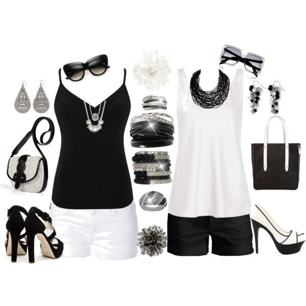 Black and White: Summer Zebras, Black And White, Black White, White Outfits, Summer Outfits, Casual Laid, Books Style, White Myvirtualwardrob, Art Black