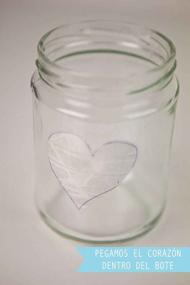 Candelabro San Valentín. Cuarto  Paso: dibujo romántico