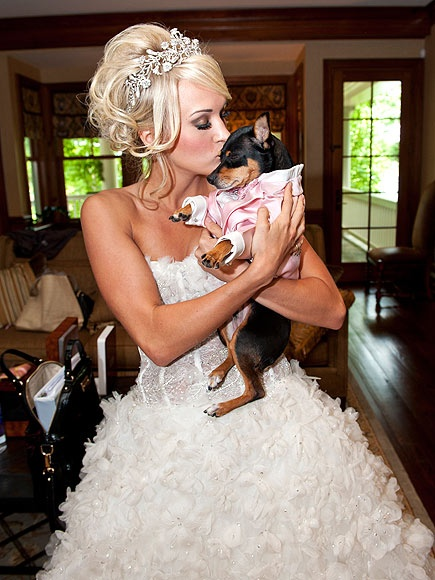 Wedding dress to die for, the princess tiara to die for! Thanks to Carrie I have my dream wedding look already