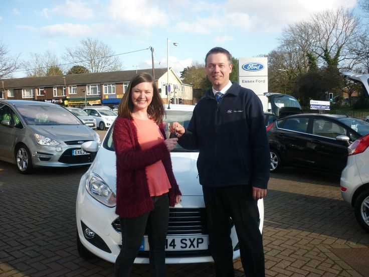 Claire Gilmore looked very happy to take delivery of her new 14 plate Ford Fiesta from Mark at our dealership in Billericay.