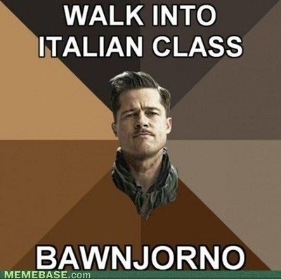 hahahaha: Inglourious Basterds, Funny Things, Inglorious Basterds, Inglorious Bastards, Giggles, Funny Stuff, Movie, Book Jackets, Brad Pitt Funny