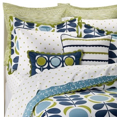 Orla Kiely Field of Flowers Bedding Set, of course my first love are the pillows...aren't they just beautiful