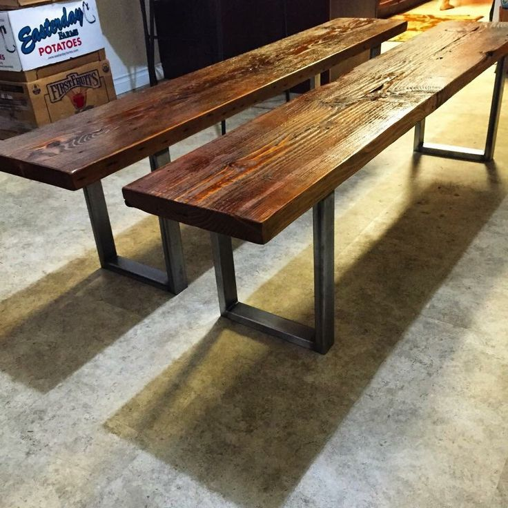 Industrial bench, reclaimed wood bench, dining bench, wood and steel bench,  entry - Top 25+ Best Reclaimed Wood Benches Ideas On Pinterest Diy Wood