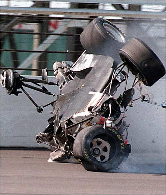 Dan Drinan Crashes At The 1996 Indy 500.**** Happens,be
