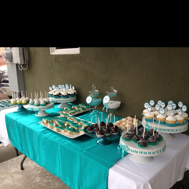 Baby shower dessert table setting ideas car interior design Baby shower table setting