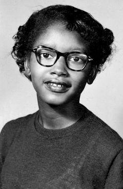Claudette Colvin, at age 15 refused to give up her bus seat to a white man in Montgomery, Alabama (9 months before Rosa Parks did the same).