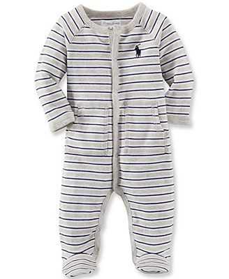 Ralph Lauren Baby Boys' Striped Fotted Coverall