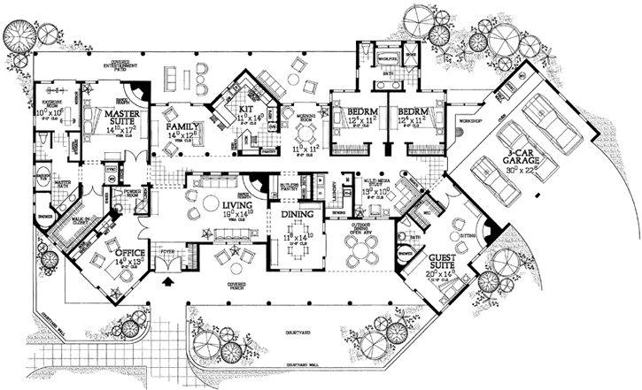 Southwest style floor plans thefloors co for Southwest homes floor plans