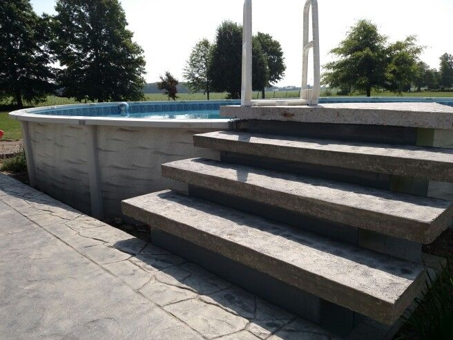 cement stepsdecking for above ground pool diy super cheap low cost
