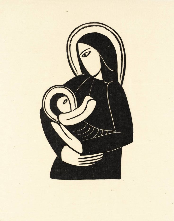 Eric Gill 'Madonna and Child', 1919 | Wood engraving on paper