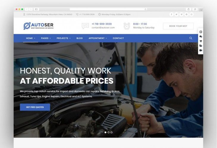 Autoser Car Repair And Auto Service Wordpress Theme Auto Repair Car Repair Garages Auto Service