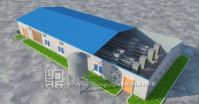 3D showing house and equipment