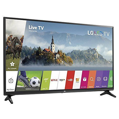 LG 55-inch Full HD Smart TV 2017 Model (55LJ5500) with 2x 6ft High Speed HDMI Cable, Screen Cleaner for LED TVs & Transformer Tap USB w/ 6-Outlet Wall Adapter and 2 Ports