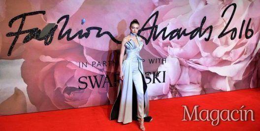 Gigi Hadid en los Premios de la Moda Británica