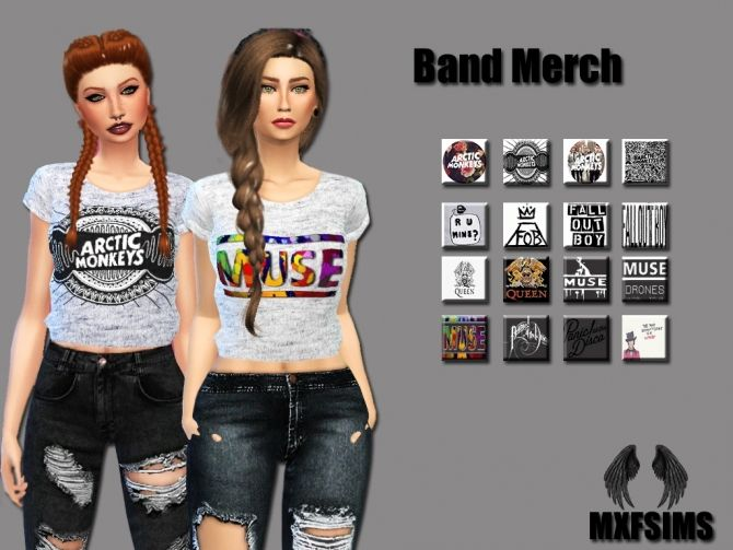 Band Merch at MXFSims • Sims 4 Updates