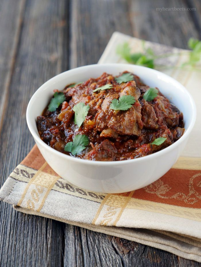 Goat Curry - authentic Indian recipe, low carb and delicious.  Works great with beef too.