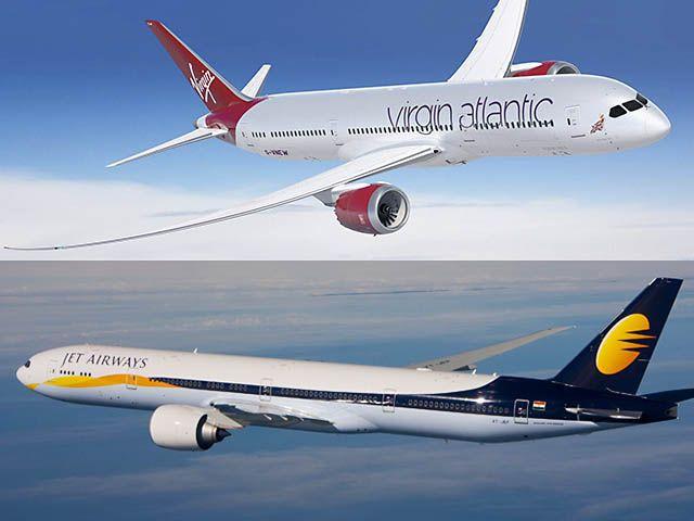 Jet Airways partage plus avec Virgin Atlantic