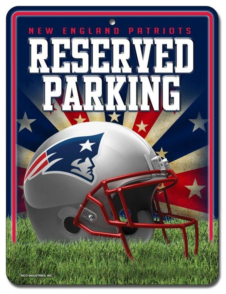 New England Patriots Sign Metal Parking