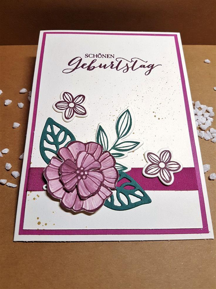 Geburtstagskarte mit Produkten von Stampin up www.stempeltierchen-leipzig.blogspot.de
