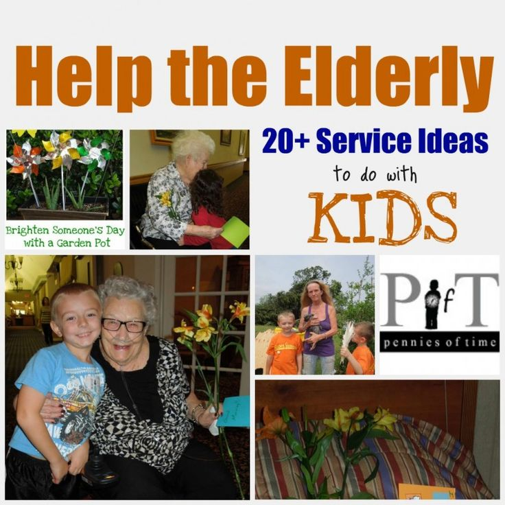 Service Projects for Kids: Service Projects to Help the Elderly... and this website has many, many more ideas for service projects!