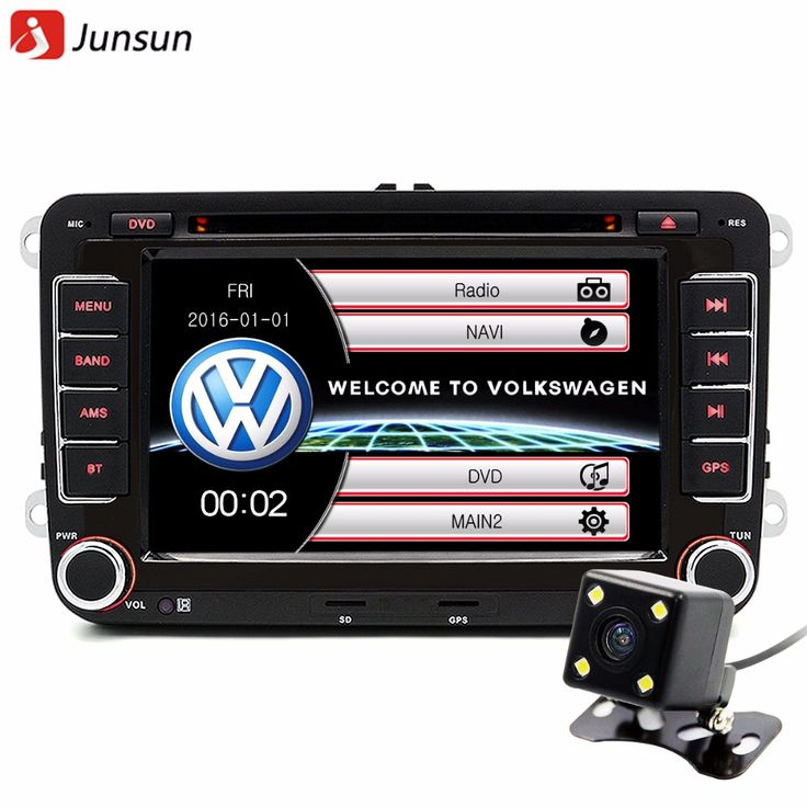 "Junsun 7 ""2 din car dvd gps radio player untuk volkswagen vw golf 5 6 passat B6 touran sharan jetta polo tiguan dengan gratis hadiah"