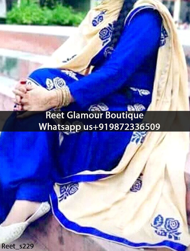 Gorgeous Dark Blue Embroidered Punjabi Suit Product Code : Reet_s229 To order, call/whatsapp on +919872336509 We offer huge variety of Punjabi Suits, Anarkali Suits, Lehenga Choli, Bridal Suits,Saree, Gowns,etc.We Can also Design any Suit of your Own Design and any Color Combination.