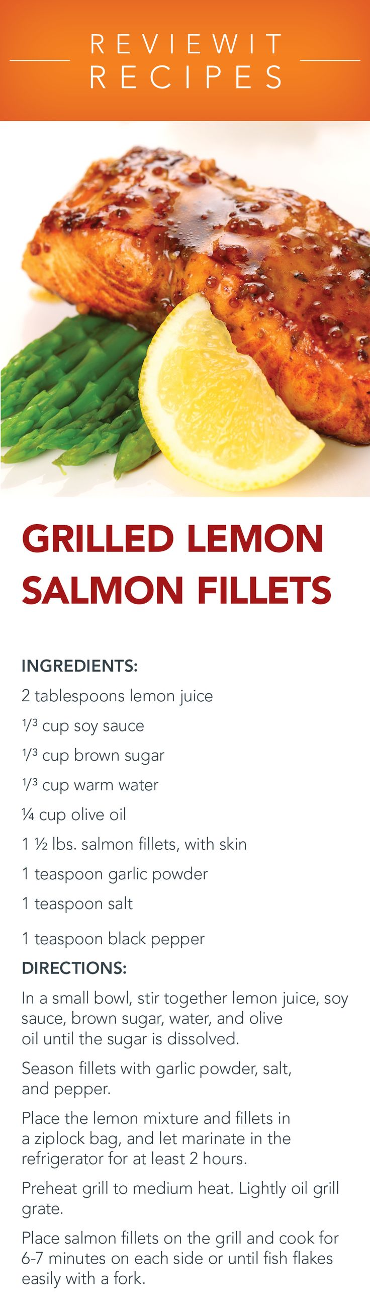 Grill Recipes  Grilled Lemon Salmon Fillets  Maybe Replace The Sugar With  Honey To Make