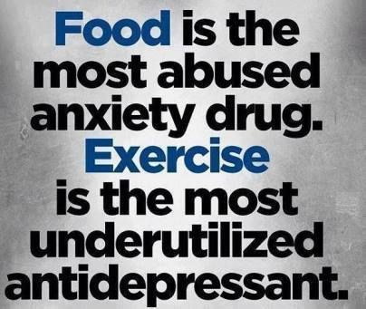 It's hard to keep in rhythm on this, but it's true. Exercise ALWAYS makes me happier or at least shakes off some depression for that day.