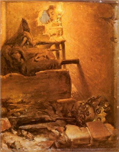 The interior of the tomb - Jan Matejko