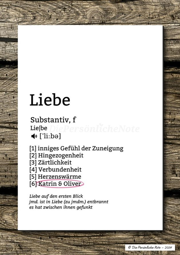 Druck/Wandbild: Was ist Liebe? - Lexikon-Print