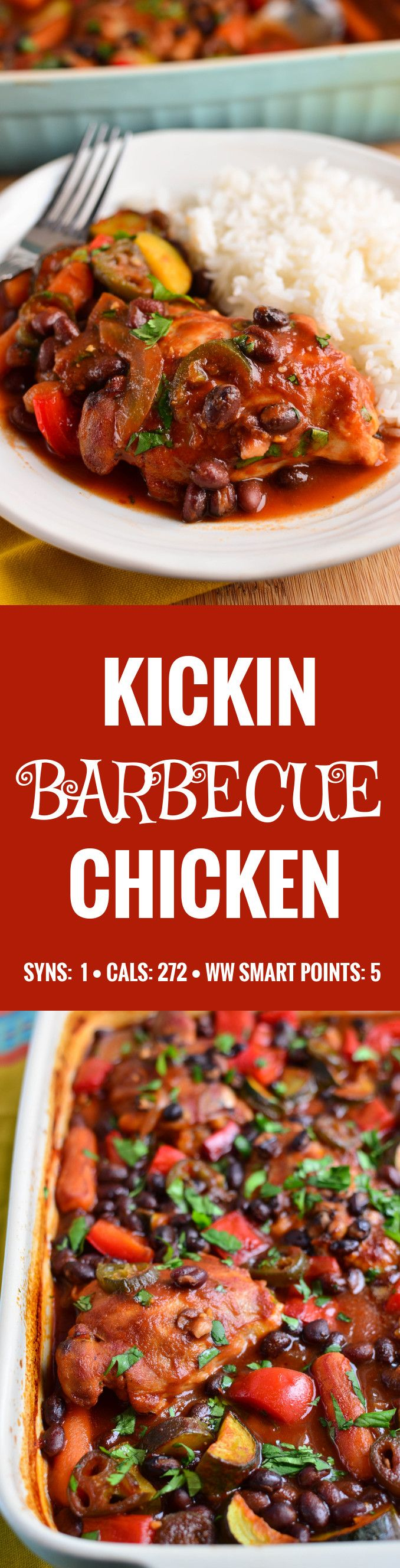 Slimming Eats Kickin Barbecue Chicken - gluten free, dairy free, Slimming World and Weight Watchers friendly