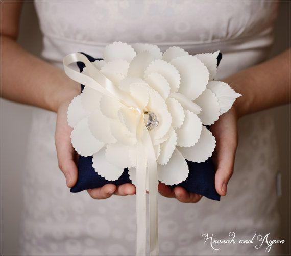 """Zoe - 6x6"""" Wedding ring pillow - Wedding ring bearer - Ring pillow bearer - 6x6"""" pillow on Etsy, $27.00"""
