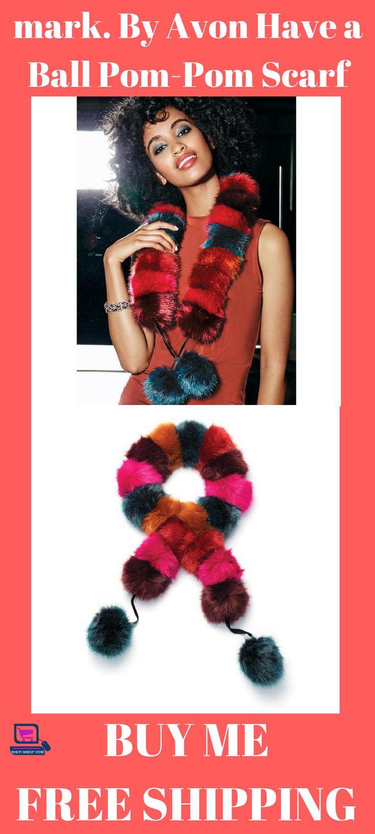 mark. By Avon Have a Ball Pom-Pom Scarf #scarfs #scarfforwomen #scarfforwomenwinter #fashion scarf for women | scarf for women winter | scarf for women fall fashion | scarf for women crochet | scarf for women silk scarves |