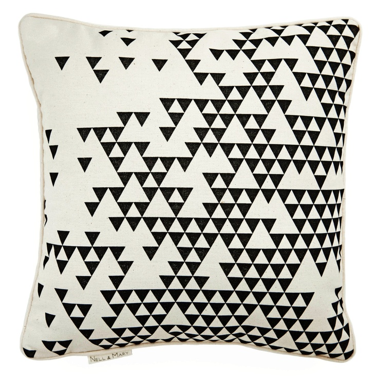 triangles pillow from nellandmary on Etsy.