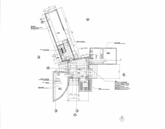Floor plan for Frank Gehry's Winton Guest House. (University of St ...
