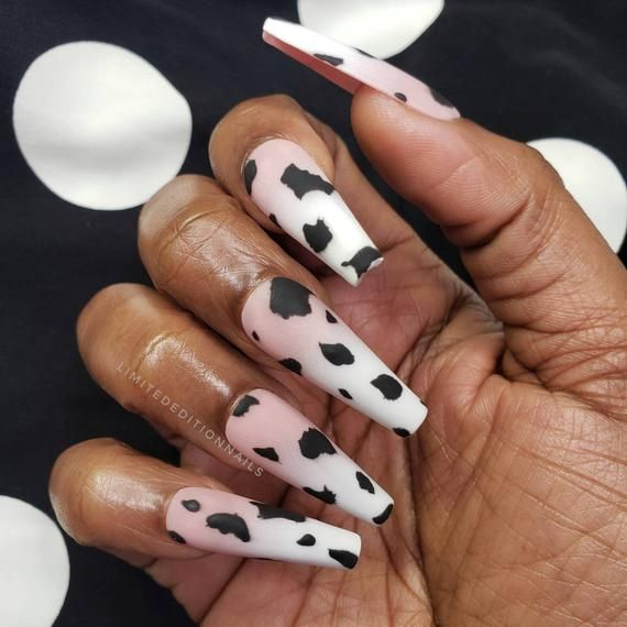 This Item Is Unavailable Etsy Cow Nails Glue On Nails Best Acrylic Nails